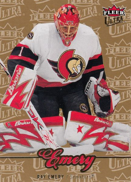 paralel karta RAY EMERY 07-08 Fleer Ultra Gold Medallion číslo 63