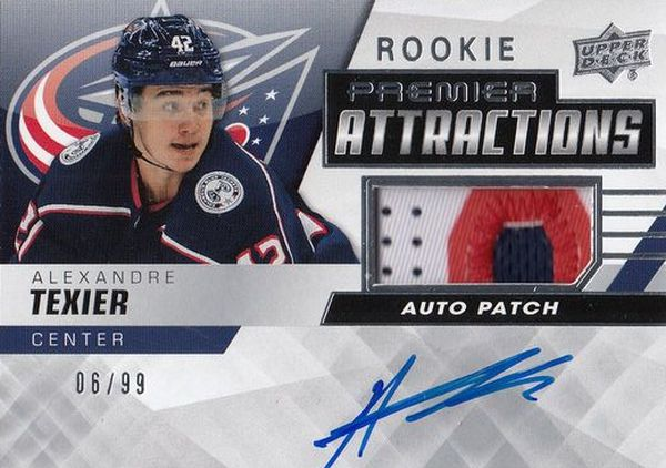 AUTO RC patch karta ALEXANDRE TEXIER 19-20 UD Premier Rookie Attractions /99