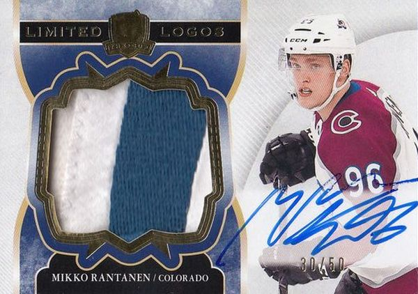 AUTO patch karta MIKKO RANTANEN 17-18 UD The CUP Limited Logos /50