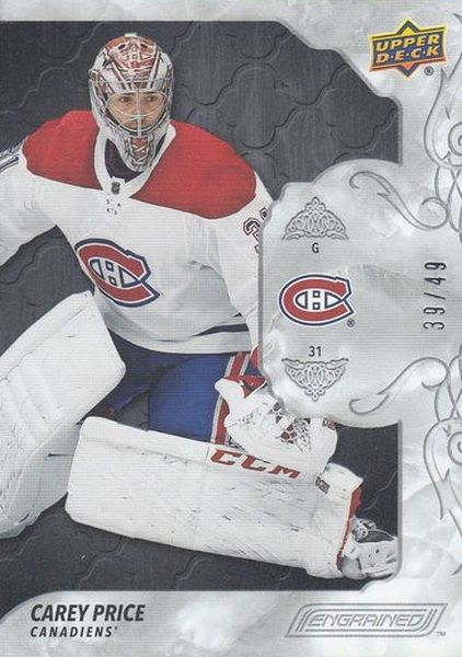 paralel karta CAREY PRICE 19-20 Engrained Ebony /49