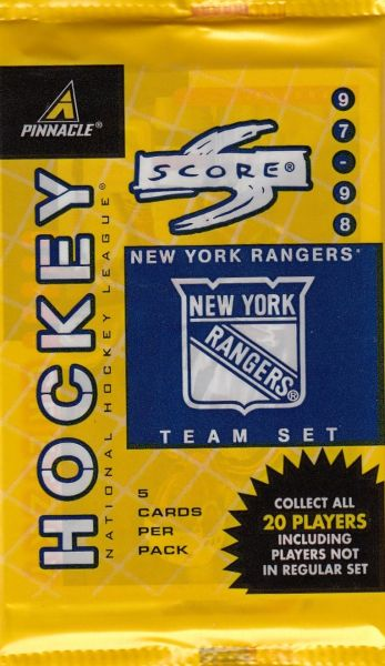 1997-98 Score Hockey NY RANGERS Team Set Hobby balíček