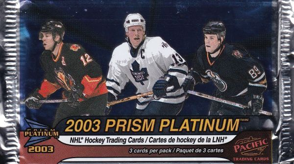 2002-03 Pacific Prism Platinum McDonald Hockey Balíček