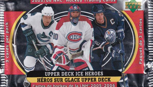 2005-06 Upper Deck McDonald Ice Heroes Hockey Balíček