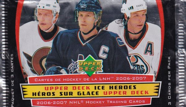 2006-07 Upper Deck McDonald Ice Heroes Hockey Balíček