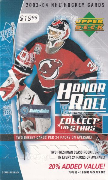 2003-04 UD Honor Roll Hockey Blaster Box