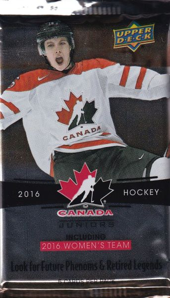 2016-17 UD Team Canada World Juniors Hockey Hobby Balíček