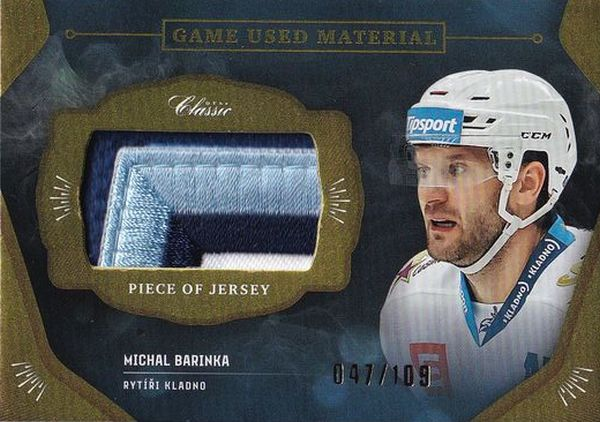 patch karta MICHAL BARINKA 20-21 OFS Classic Ser. 1 Game Used Material /109