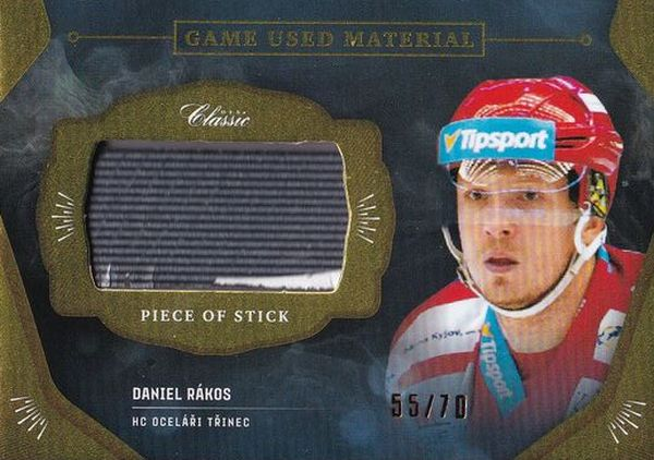 stick karta DANIEL RÁKOS 20-21 OFS Classic Ser. 1 Game Used Material /70