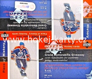 2002-03 UD Piece of History Hockey Retail Box