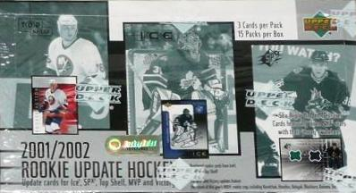 2001-02 UD Rookie Update Hockey Hobby Box