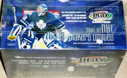 2001-02 UD Playmakers Limited Hobby Box