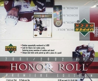 2001-02 UD Honor Roll Hockey Hobby Box
