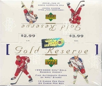 1999-00 UD Gold Reserve HOBBY Box