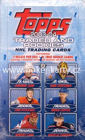 2003-04 Topps Traded and Rookies Hockey Box
