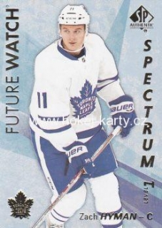 insert RC karta ZACH HYMAN 16-17 SP Authentic Future Watch Spectrum