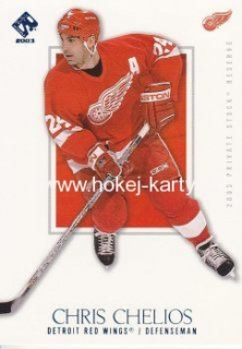 paralel karta CHRIS CHELIOS 02-03 Private Stock Reserve Blue /499