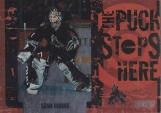 insert karta SEAN BURKE 02-03 Topps Stadium Club The Puck Stops Here číslo PSH11