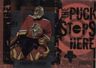 insert karta ROBERTO LUONGO 02-03 Topps Stadium Club The Puck Stops Here