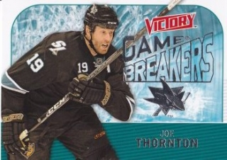 insert karta JOE THORNTON 09-10 Victory Game Breakers číslo GB6