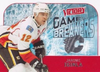 insert karta JAROME IGINLA 09-10 Victory Game Breakers číslo GB20