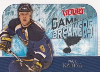 insert karta PAUL KARIYA 09-10 Victory Game Breakers číslo GB49