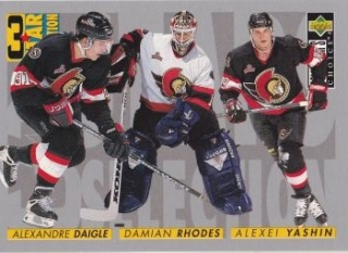 insert karta DAIGLE/RHODES/YASHIN 96-97 Coll. Choice 3 Star Selection