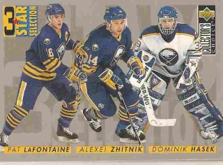 insert karta LaFONTAINE/ZHITNIK/HAŠEK 96-97 Coll. Choice 3 Star Selection