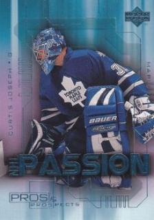 insert karta CURTIS JOSEPH 00-01 Pros and Prospects NHL Passion číslo NP9