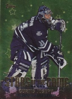 insert karta CURTIS JOSEPH 01-02 Topps Stars of the Game číslo SG7