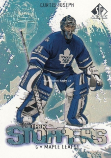 insert karta CURTIS JOSEPH 00-01 SP Authentic Super Stoppers číslo SS6