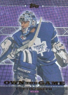 insert karta CURTIS JOSEPH 00-01 Topps Own the Game číslo OTG14