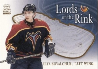 insert karta ILYA KOVALCHUK 02-03 Crown Royale Lords of the Rink číslo 3