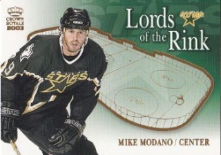 insert karta MIKE MODANO 02-03 Crown Royale Lords of the Rink číslo 8