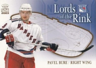 insert karta PAVEL BURE 02-03 Crown Royale Lords of the Rink číslo 14
