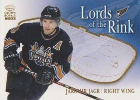 insert karta JAROMÍR JÁGR 02-03 Crown Royale Lords of the Rink číslo 20