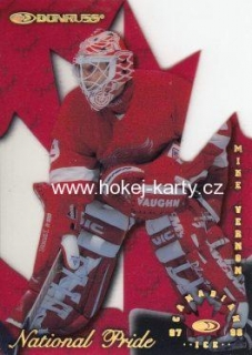 insert karta MIKE VERNON 97-98 Donruss Canadian Ice National Pride /1997