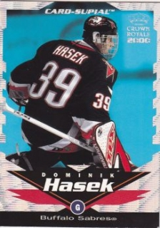 insert karta DOMINIK HAŠEK 99-00 Crown Royale Card-Supial číslo 5