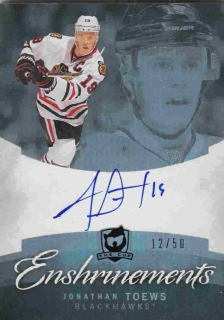 AUTO karta JONATHAN TOEWS 11-12 UD The Cup Enshinements /50