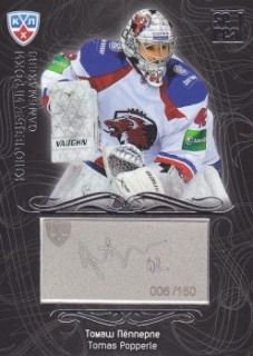 insert karta TOMÁŠ POPPERLE 12-13 KHL Gold Collection Gamemakers / 150