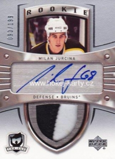 AUTO patch RC karta MILAN JURČINA 05-06 UD The Cup Rookie /199