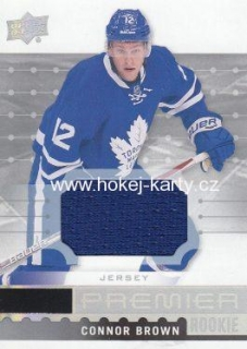 jersey RC karta CONNOR BROWN 16-17 UD Premier Rookie číslo R-30