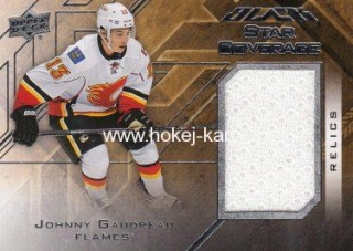 jersey karta JOHNNY GAUDREAU 15-16 UD Black Star Coverage číslo SCOV-JG