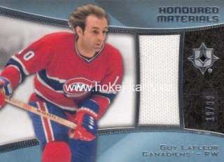 jersey karta GUY LAFLEUR 15-16 UD Ultimate Honoured Materials /99