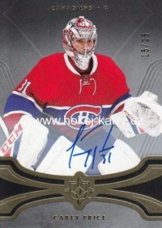 AUTO karta CAREY PRICE 16-17 UD Ultimate Gold /25