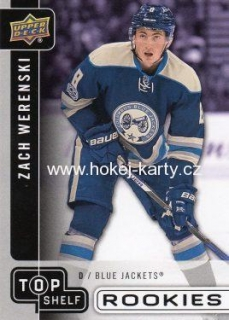 insert RC karta ZACH WERENSKI 16-17 UD National Convention Top Shelf Rookies