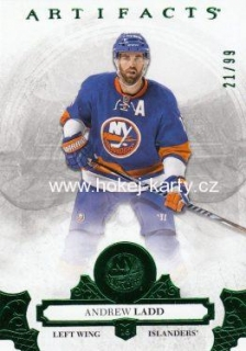 paralel karta ANDREW LADD 17-18 Artifacts Emerald /99