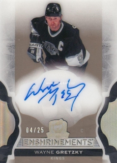 AUTO karta WAYNE GRETZKY 16-17 UD The Cup Enshrinements /25