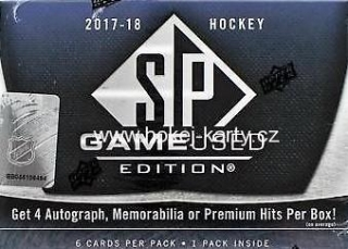 2017-18 UD SP GAME-USED Hockey Hobby Box