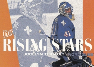 insert RC karta JOCELYN THIBAULT 95-96 Fleer Ultra Rising Stars číslo 8 of 10