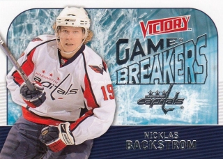 insert karta NICKLAS BACKSTROM 09-10 Victory Game Breakers číslo GB38
